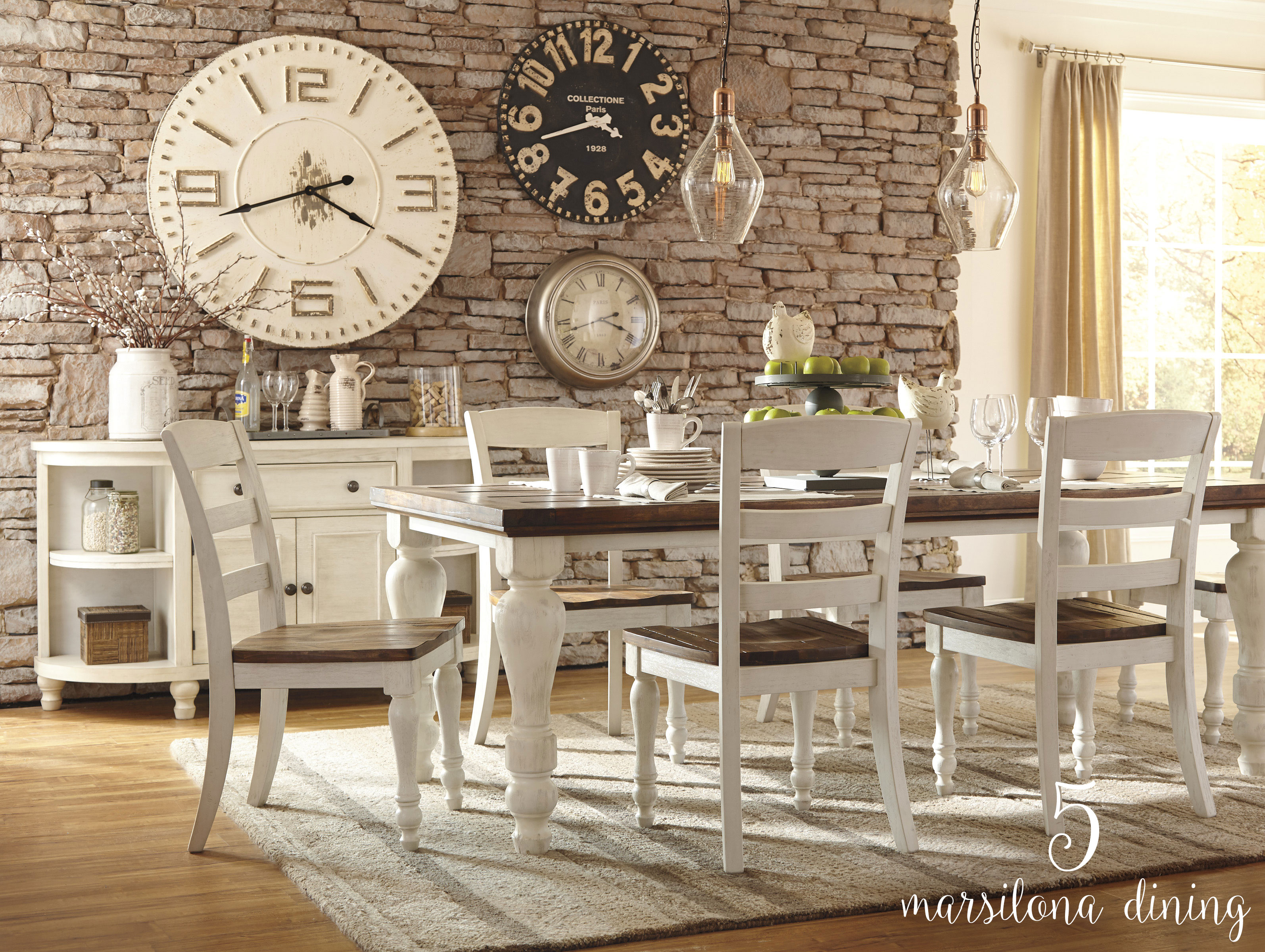 Country Classics With Subtle Modern Twists Can Really Make A Bold Statement  In Your Dining Room. Off White Trim With Dark Wood Is A Great Way To Create  ...