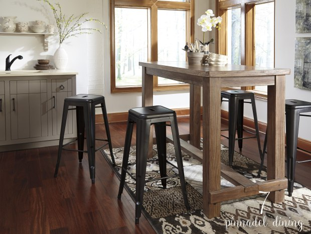 A Classic Pub Table And Industrial Chic Stools Are Match Made In Modern Farmhouse Heaven Minimalist Inspired Is Beautifully Anchored By The